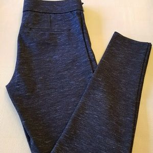 Blue Side Zip Leggings